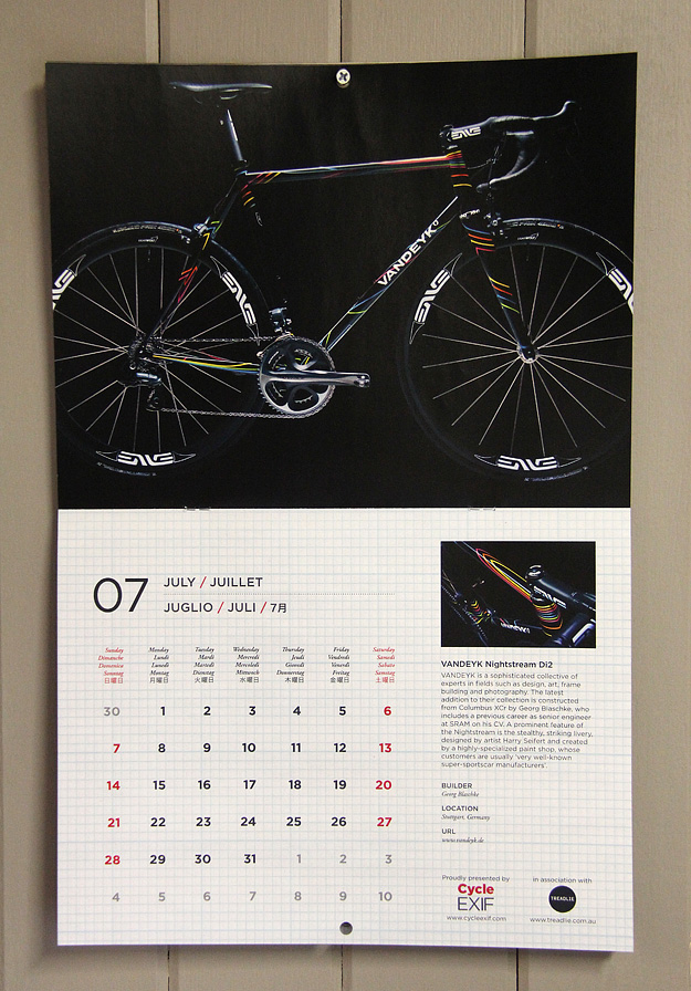 Cycle EXIF Bicycle Calendar 2013
