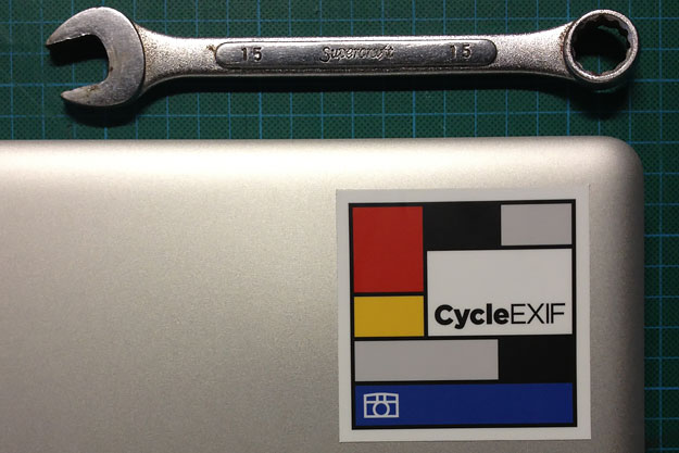 The Cycle EXIF Sticker