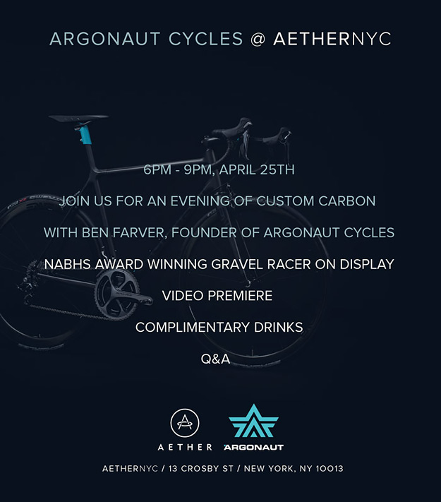 Argonaut Cycles at Aether Apparel NYC