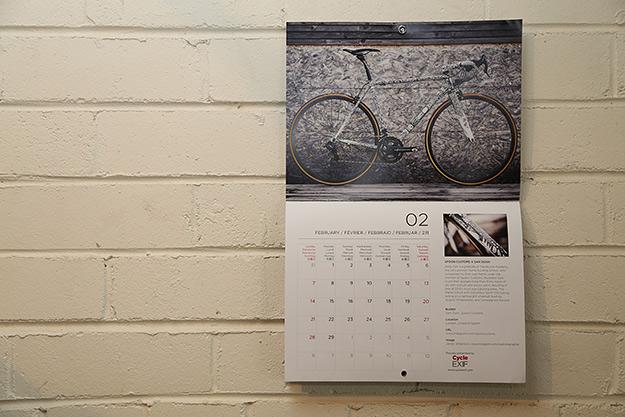 Cycle EXIF Custom Bicycle Calendar 2016
