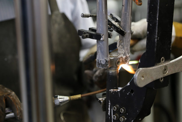 Framebuilding At Downland Cycles Part 2: Tack And Torch