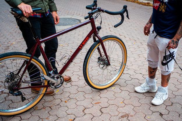 Lyle Wiens' Super Tall Fat Tire Road Bike