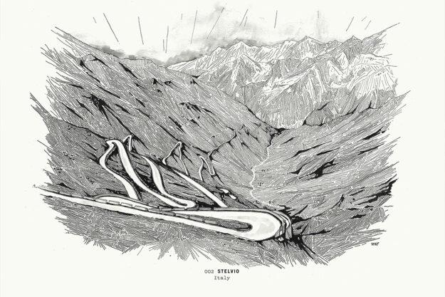 High On A Hill: Stefan Amato's Stelvio Pass Print